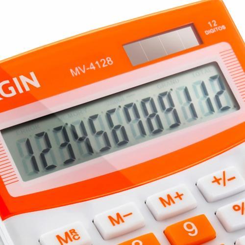Calculadora 12 dígitos Laranja Elgin MV4128