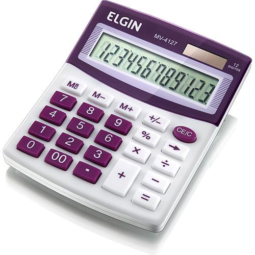 Calculadora 12 dígitos Lilás Elgin MV4127
