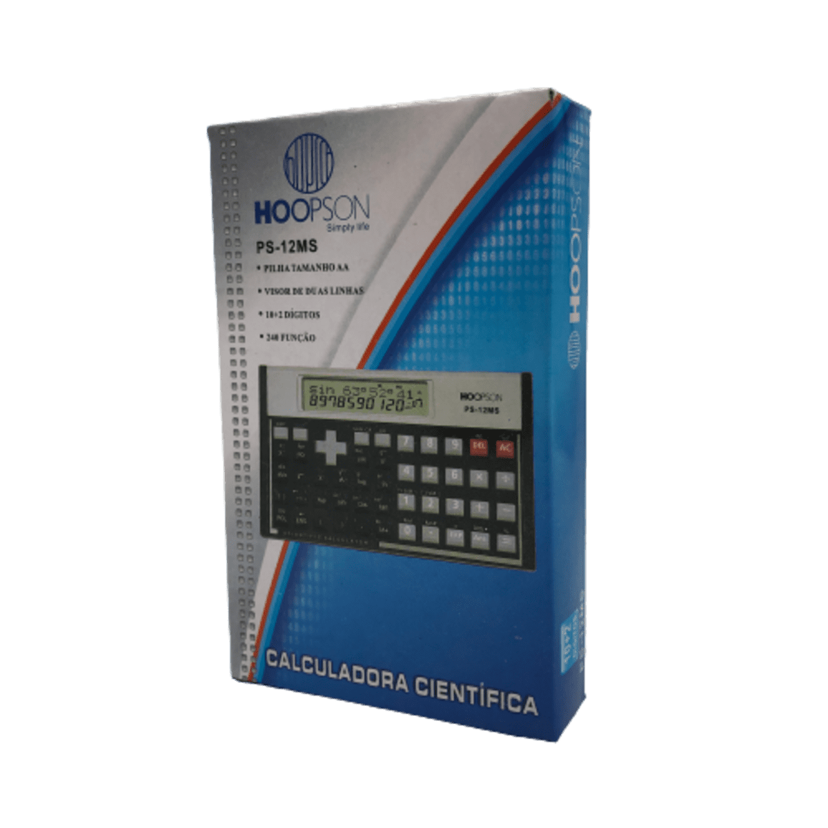 Calculadora Científica com 240 Funções PS-12MS Kenko