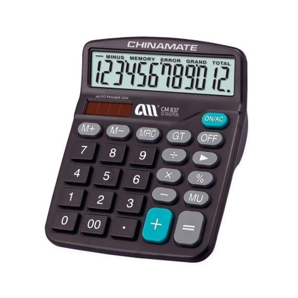 Calculadora Eletrônica 12 Dígitos CM837 Chinamate