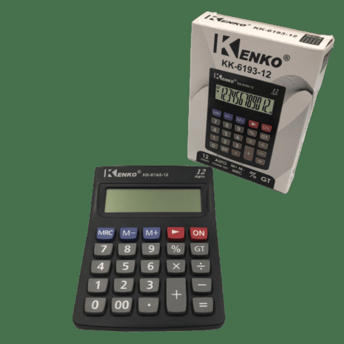 Calculadora Eletrônica 12 Dígitos KK-6193-12 Kenko