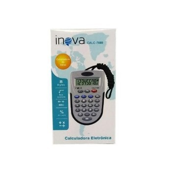 Calculadora Eletrônica 8 Dígitos Portátil CALC-7089 Inova