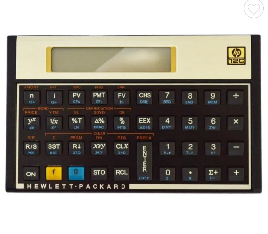 Calculadora Financeira com 120 Funções Gold 12c HP