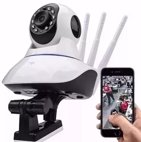 Câmera de segurança Wifi 360 graus P2P HD AL-S380