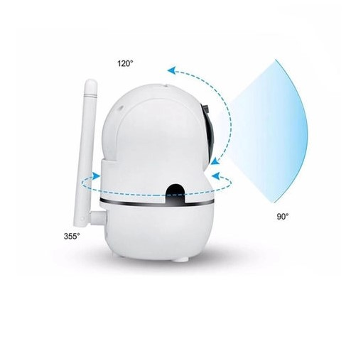 Câmera de Segurança Robô Detector Movimento Wifi HD
