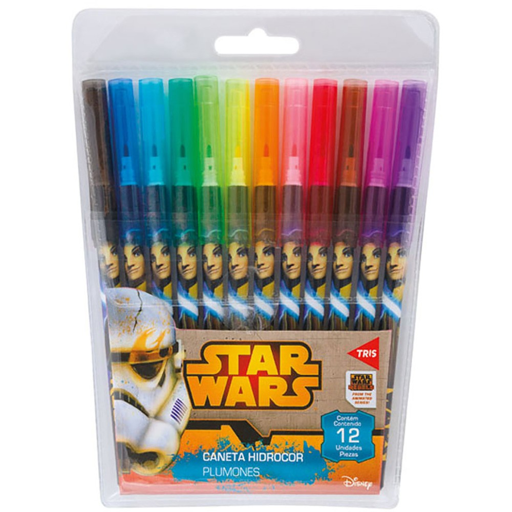 Caneta Hidrocor 12 unidades Star Wars Tris