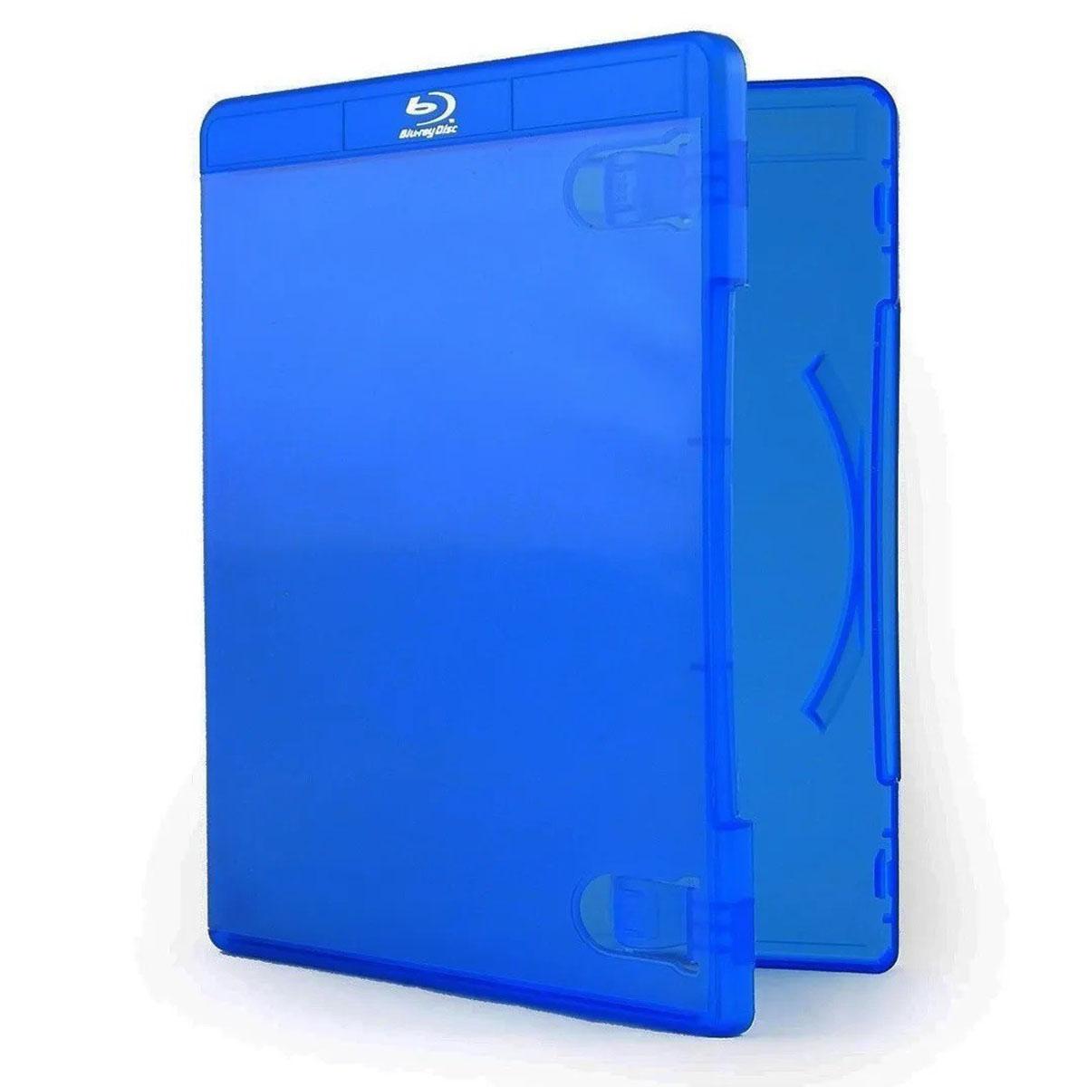 Capa para DVD Blue Ray Estojo Transparente Azul para Filmes BlueRay
