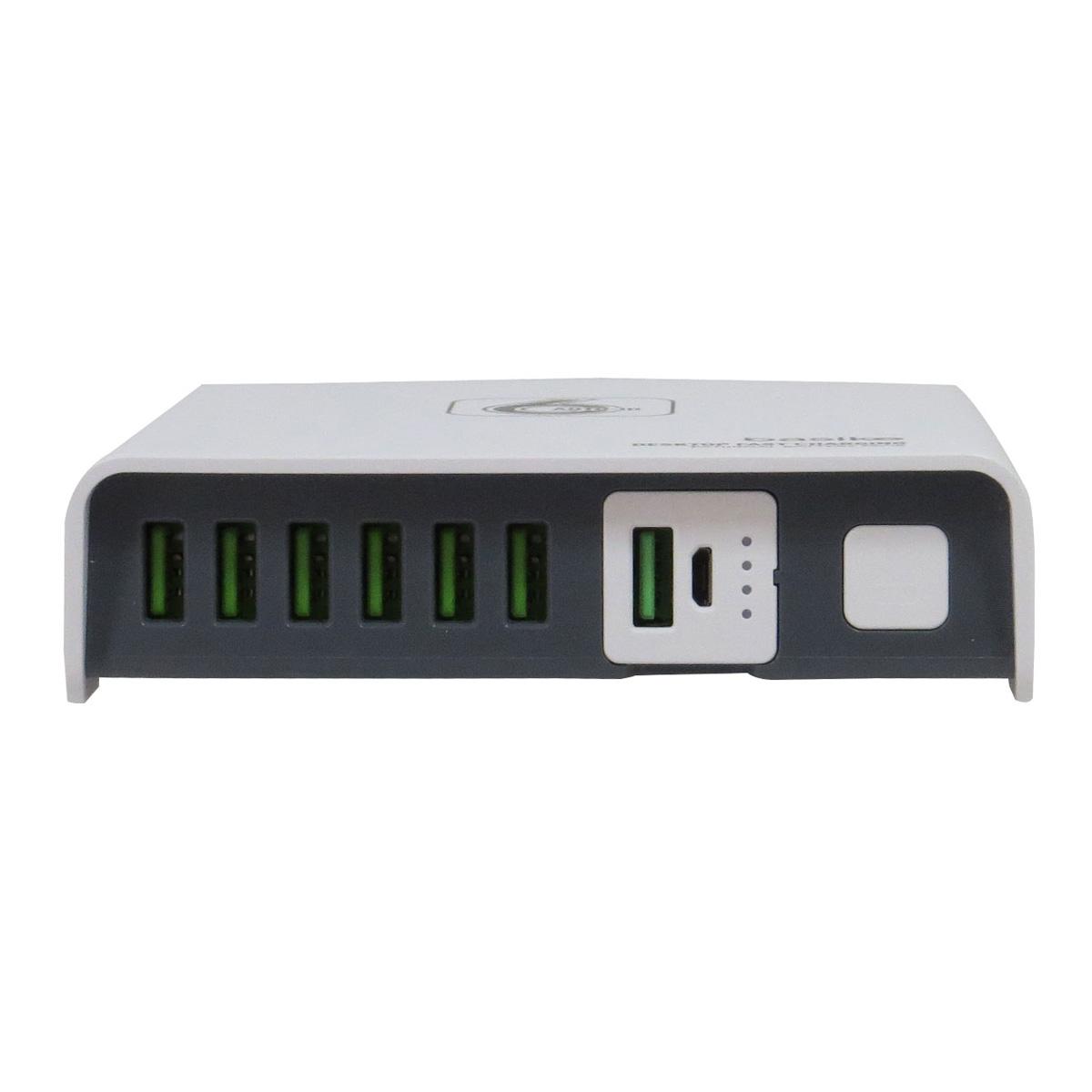 Carregador Rápido de Mesa de 6 USB com Powerbank 2600mAh Basike