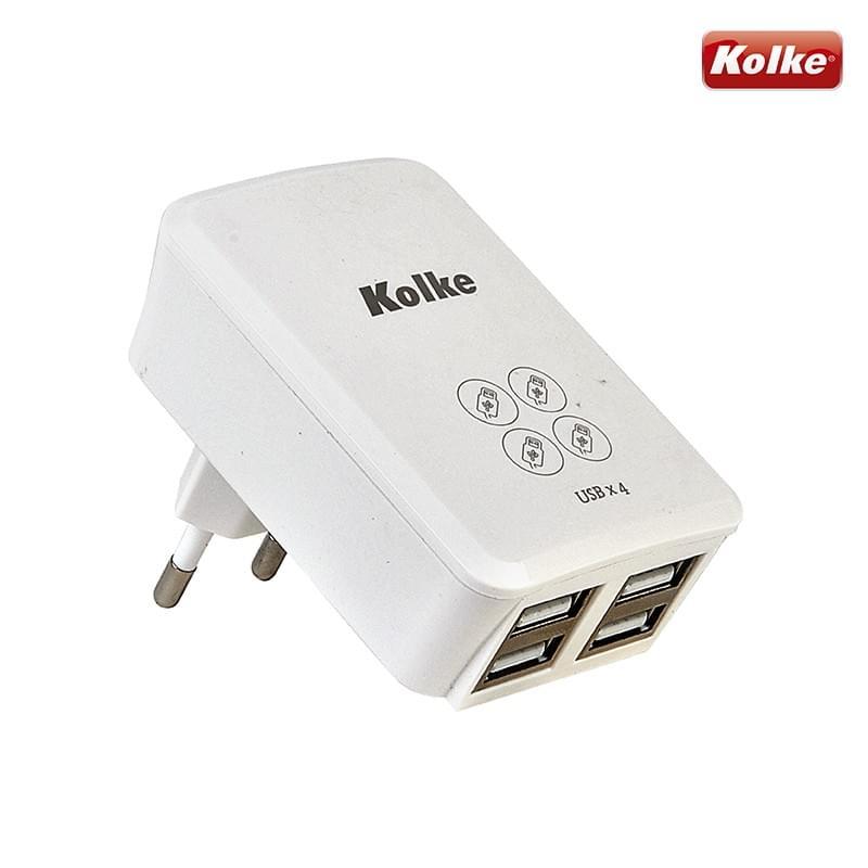 Carregador de parede para celular com 4 USB KAN-104 Kolke