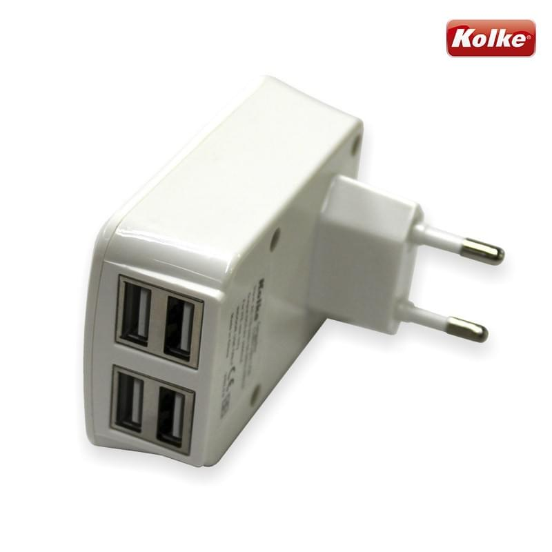 Carregador para celular de parede 4 portas USB KAN-104 Kolke  - RECALL INFORMATICA