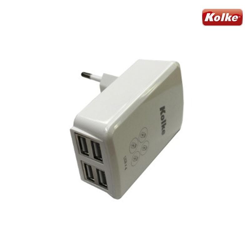 Carregador para celular de parede 4 portas USB KAN-104 Kolke