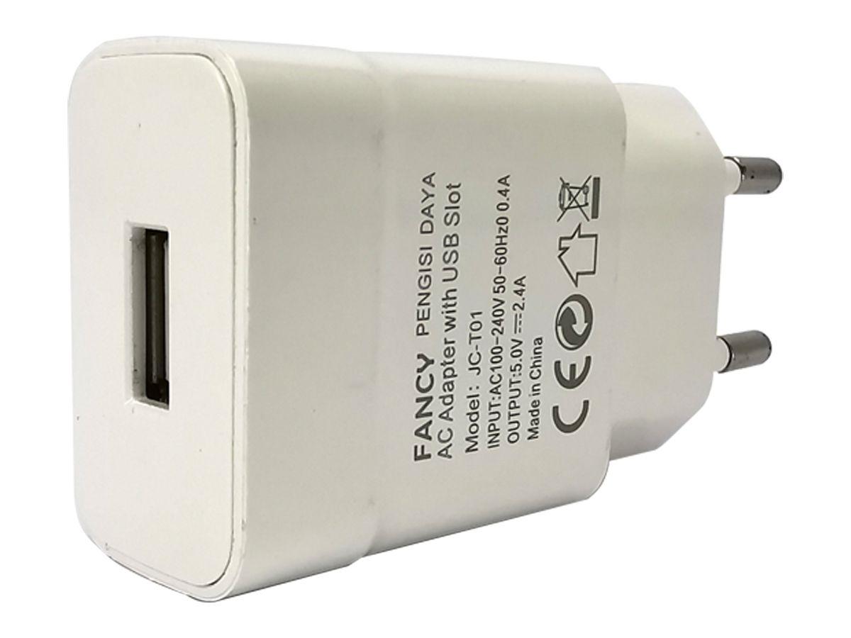 Carregador de Parede Para Celular Turbo USB 2.0 JC-T02 Fancy
