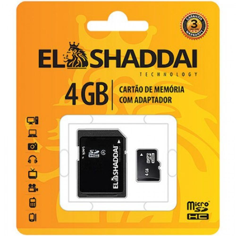 Cartão Memória Micro Sd 4gb Para Samsung Nokia Lg Motorola El Shaddai