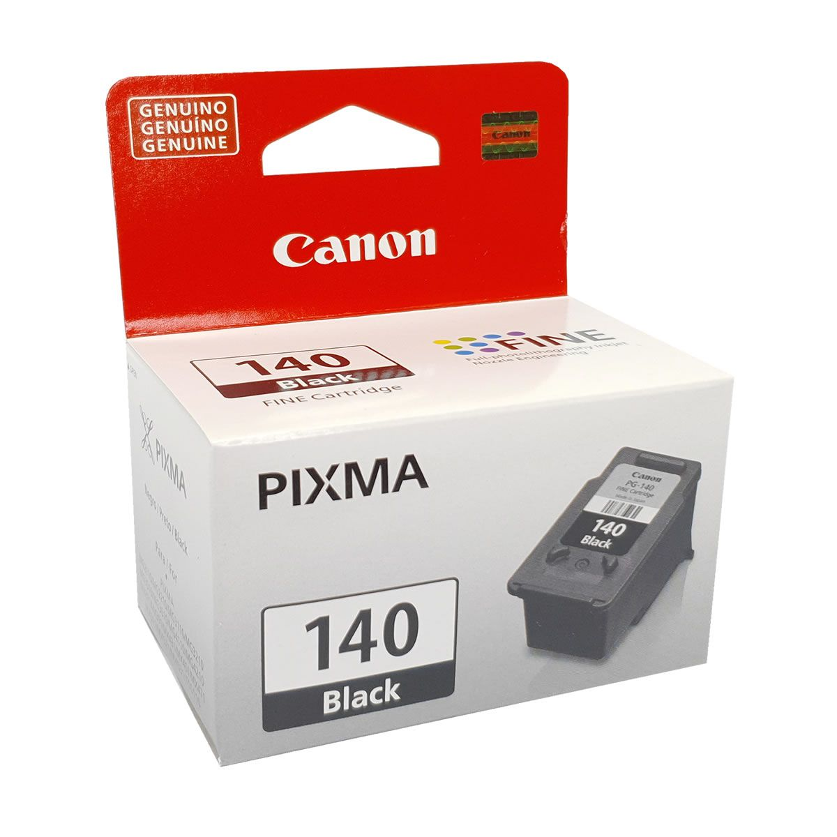 Cartucho PG140 preto original Canon para MG2110 MG3110 MG3510 MG3210 MG4110 MG3210 MX431 MX371
