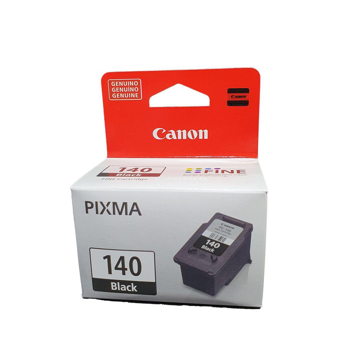 Cartucho Canon PG140 Preto para MG2110 MG3110 MG3510 MG3210 MG4110 MG3210 MX431 MX371