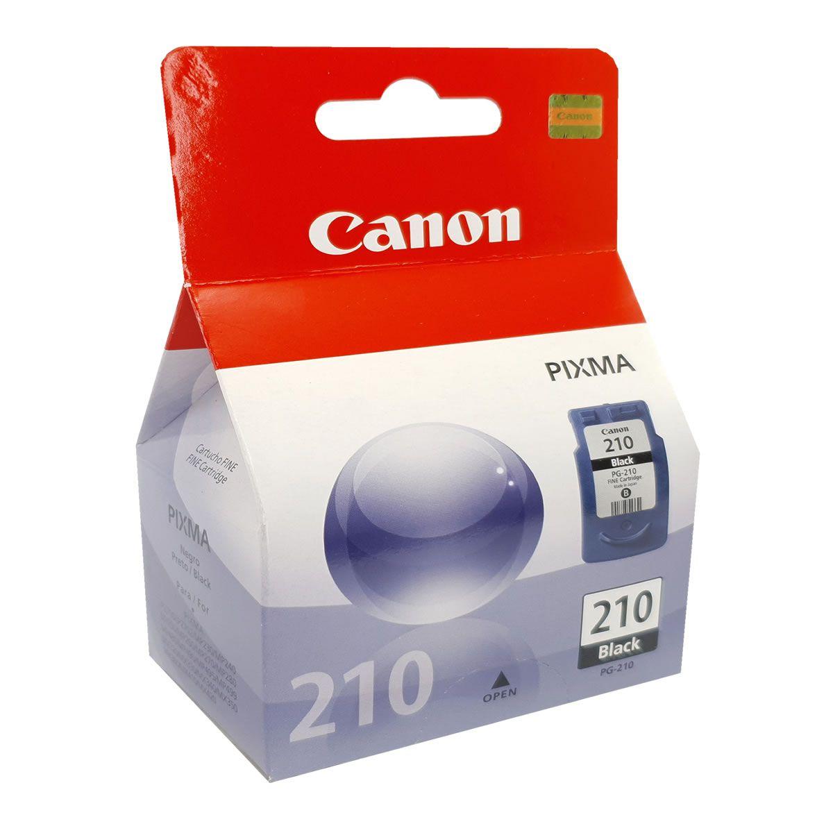 Cartucho Canon PG210 preto para MP240 MP250 MP260 MP270 MP480
