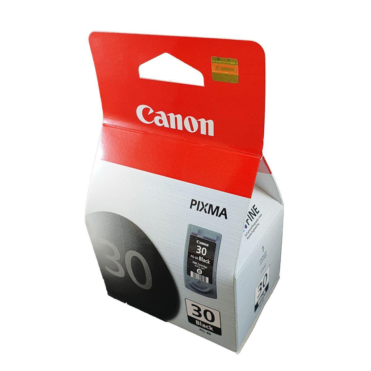 Cartucho Canon PG30 preto para Pixma IP1800 MP140 MP190