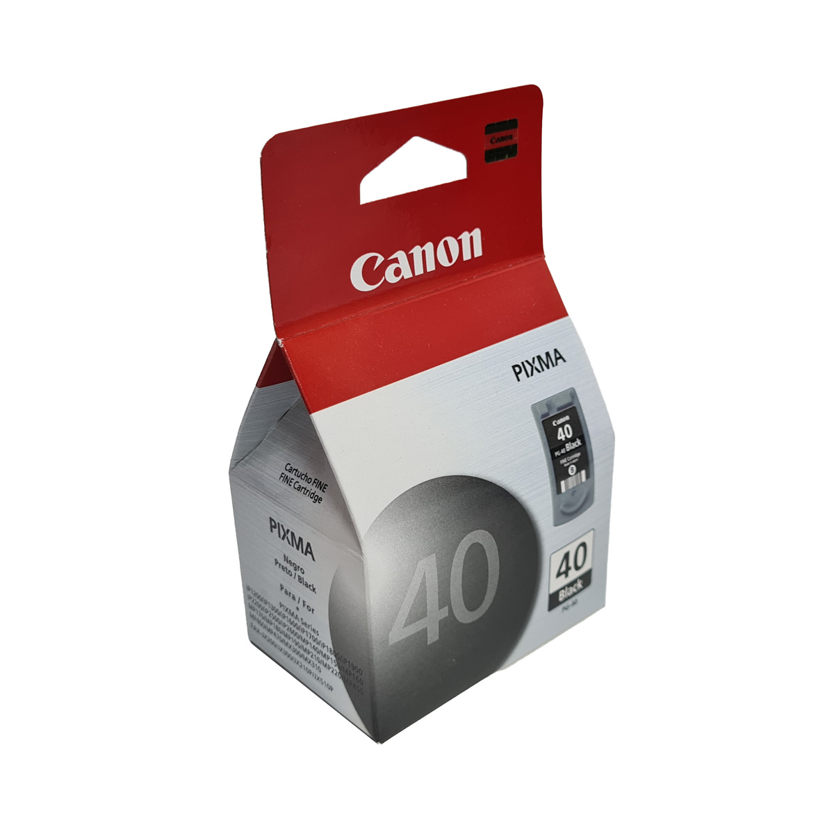 Cartucho Canon PG40 Preto para Pixma IP1200 IP1300 MP140 MP160