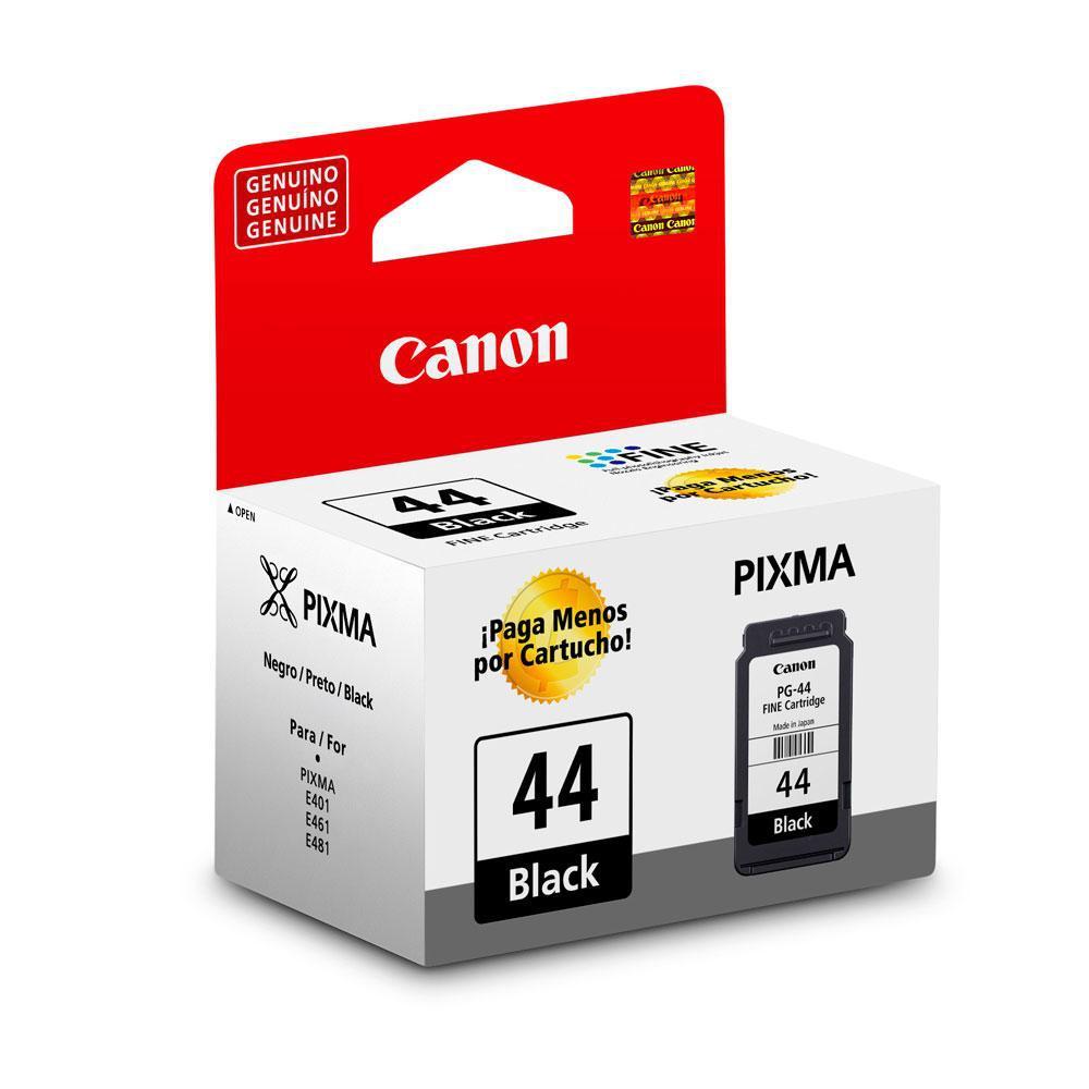 Cartucho Canon PG44 PG-44 PG 44 para PIXMA E401 E461 E481 Preto 5,6 ml