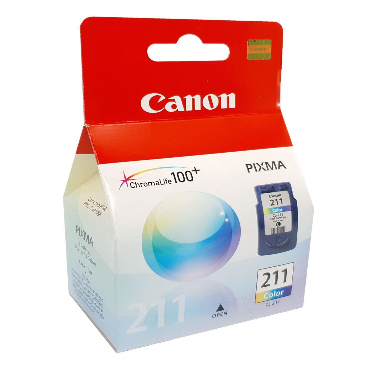 Cartucho Canon CL211 Colorido para MP240 MP250 MP260 MP490 MP480 MX330