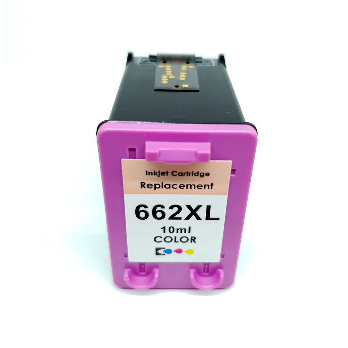 Cartucho 662 662XL Colorido compatível com 2515 3516 da HP