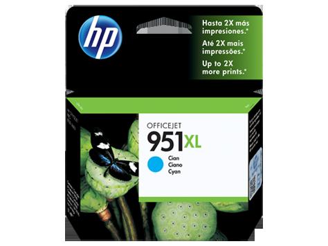 Cartucho de Tinta HP 951XL Ciano CN046AL 17ml para 8100 e 8600