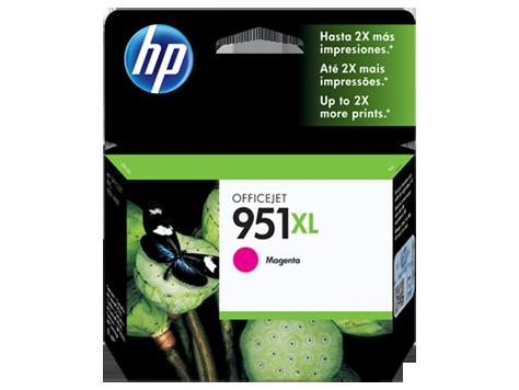 Cartucho de Tinta HP 951XL Magenta CN047A 17ml para 8100 e 8600