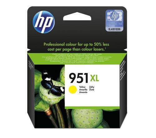 Cartucho de Tinta HP 951XL Amarelo CN048AL 17ml para 8100 e 8600