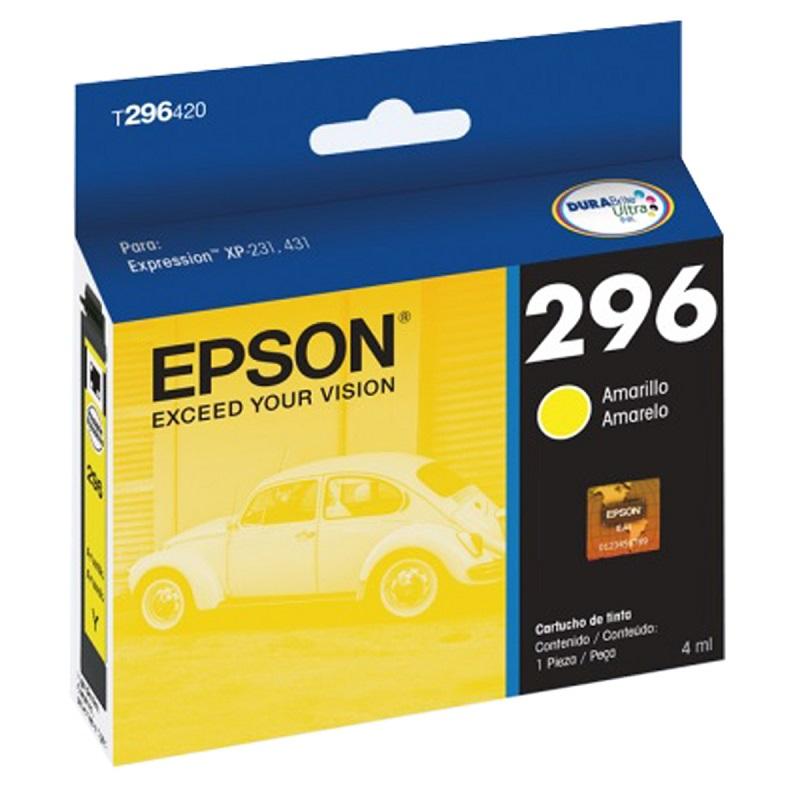 Cartucho Epson Amarelo 296 T296420 Para XP-231 431 T296 TO296 T0296