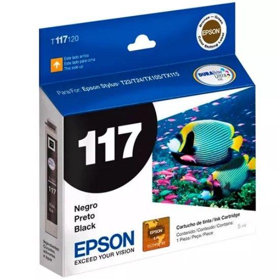 Cartucho Epson preto Original T117120  T117 117 para T23  T24  TX105 TX115