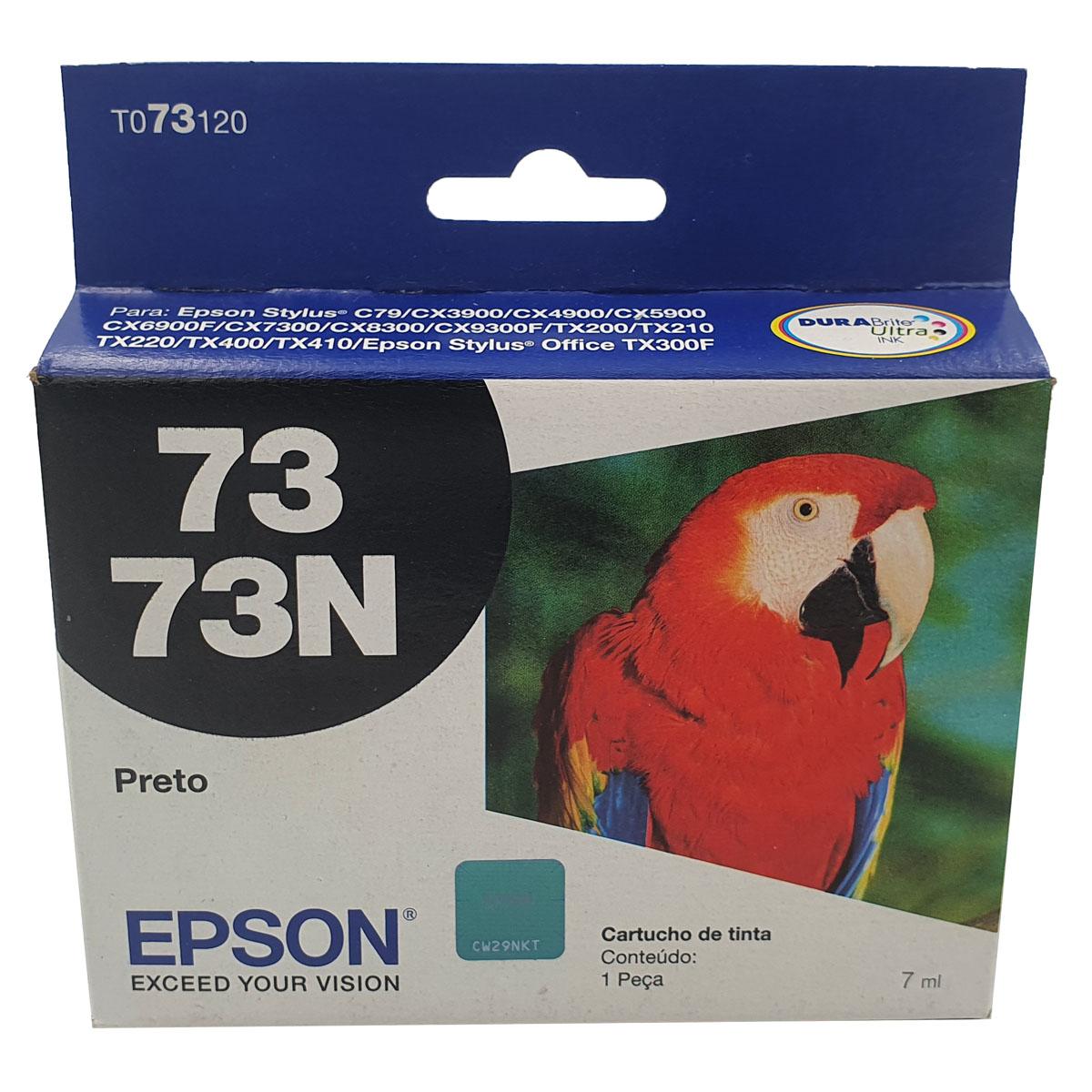 Cartucho EPSON T073120 TO731 731 73n Preto para CX4900 c79 CX5900 CX7300
