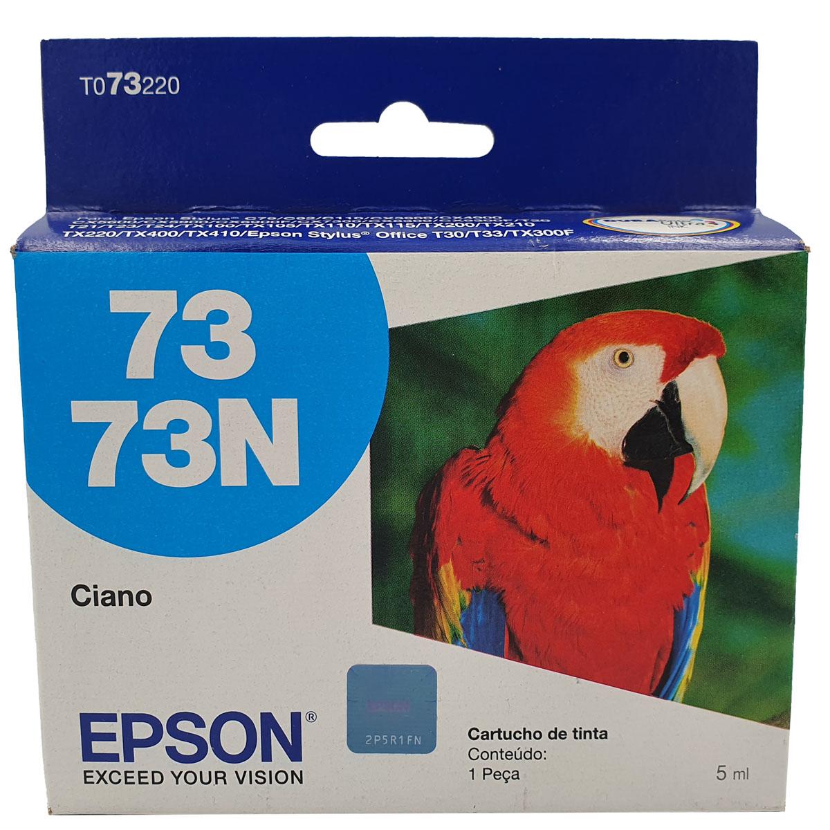 Cartucho EPSON T073220 TO732N TO732 73N Ciano para c79 CX4900 T24 TX105 TX115 T33