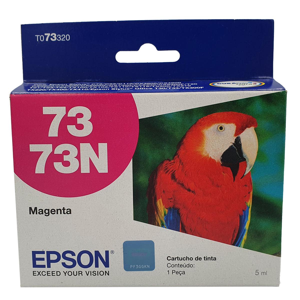 Cartucho EPSON T073320 TO733 73N Magenta para C92 c110 CX5600 TX300 CX4900 T24 T33