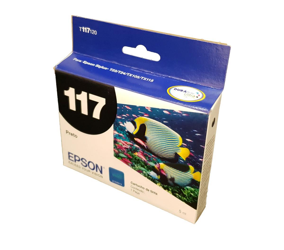 Cartucho Epson 117 T117120 Para T24 T23 Tx105 Tx115