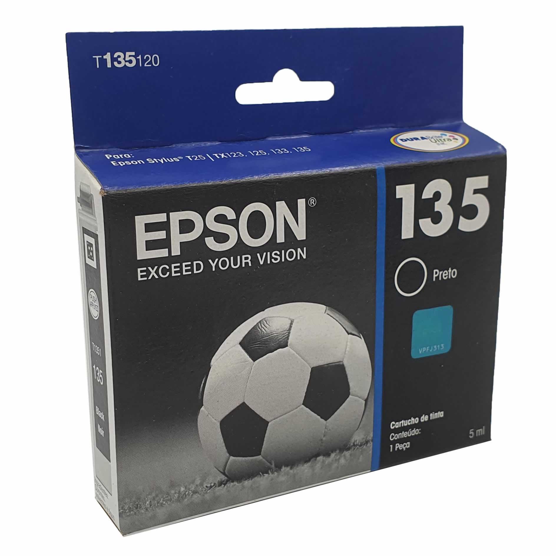 Cartucho EPSON T1351 Preto para T25 TX123 TX125 TX133 TX135
