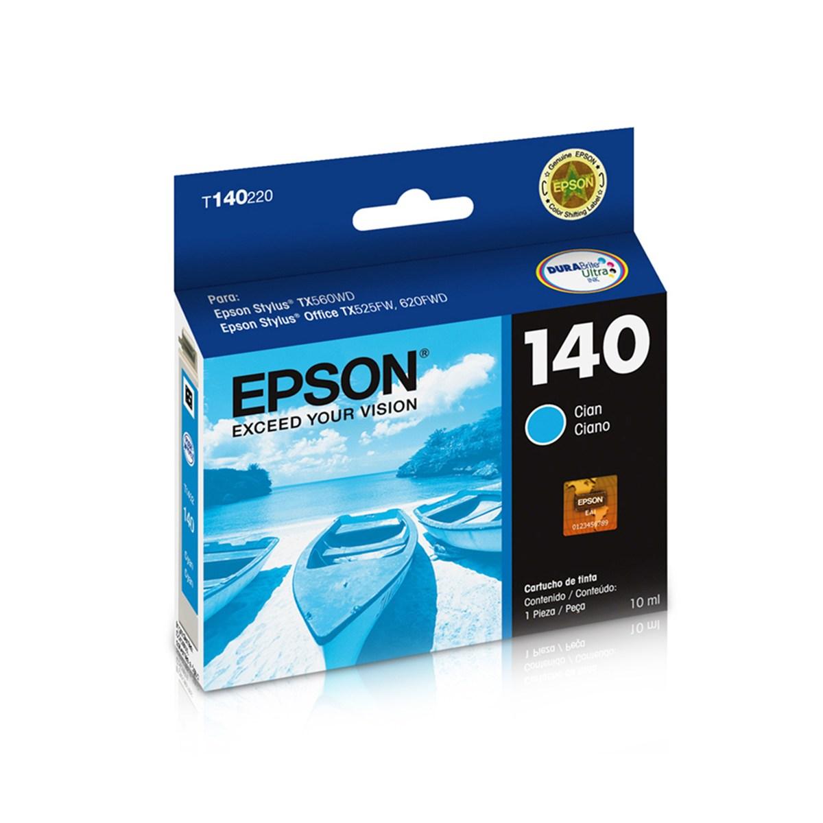 Cartucho EPSON T140 Ciano para T42WD TX525 TX620FWD TX560WD