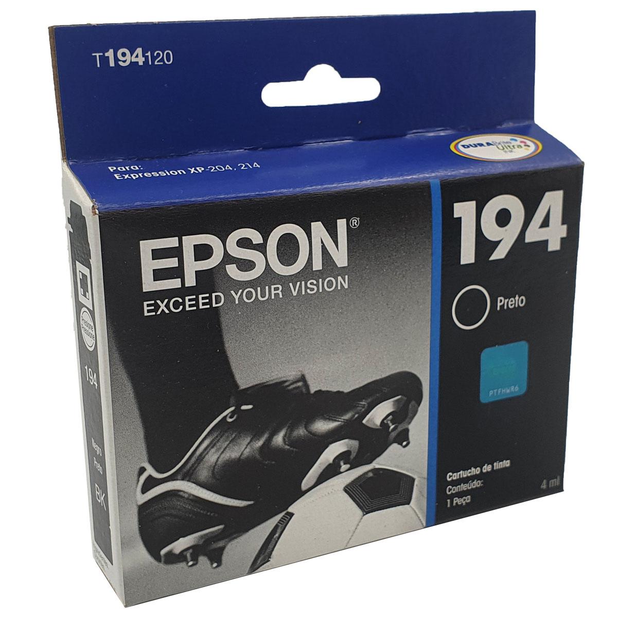 Cartucho EPSON T194120 T194 194 Preto para XP-104 XP204