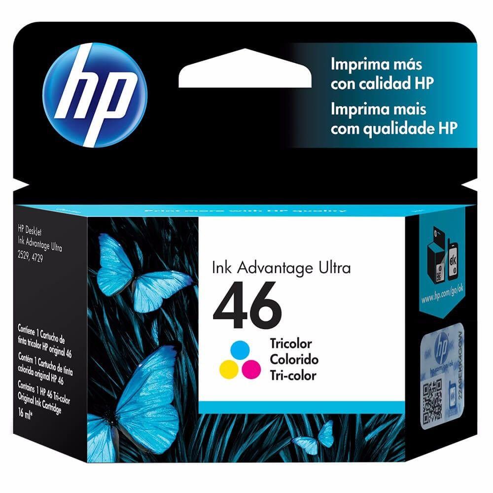 Cartucho HP46 HP 46  CZ638AL Colorido para Deskjet Ink Advantage Ultra 2529 4729 5738 5739