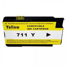 Cartucho MJ Compatível 711XL 711 Amarelo 28ml para DESIGNJET T120 T520 da HP