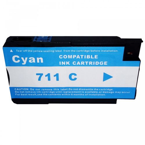 Cartucho MJ Compatível 711XL 711 Ciano 28ml para DESIGNJET T120 T520 da HP