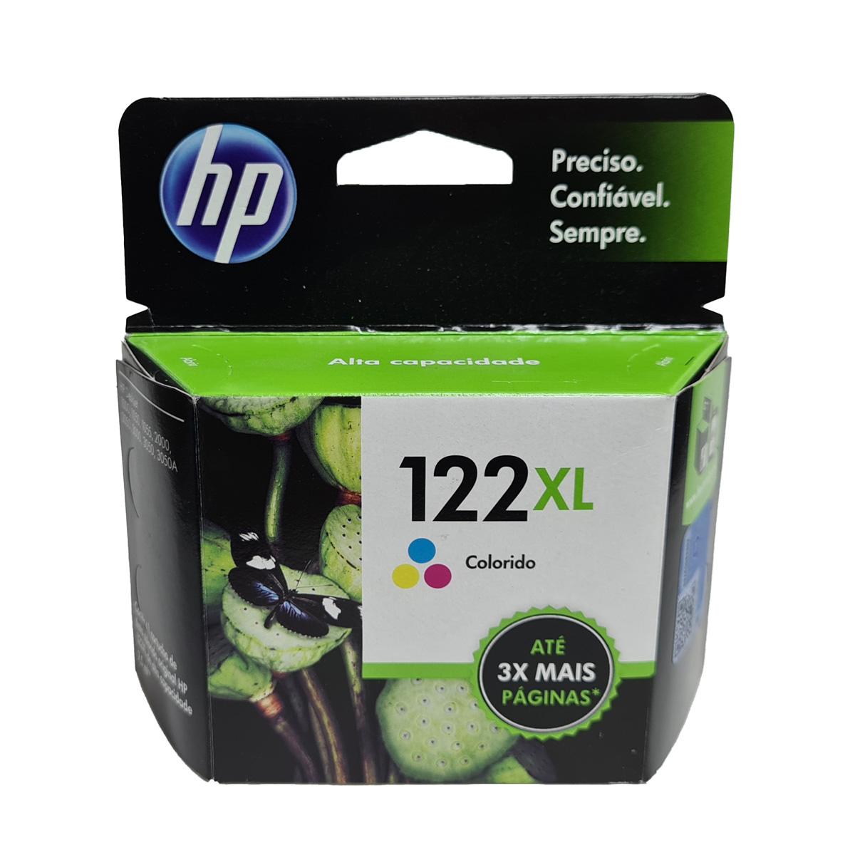 Cartucho HP 122XL Color CH564HB para D1000 D2050 D3050 2050 Alta Capacidade