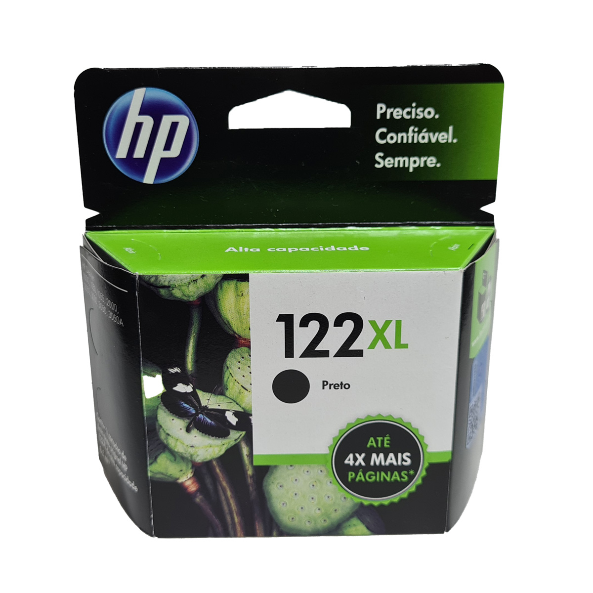 Cartucho HP 122XL Preto CH563HB para D1000 D2050 D3050 2050 Alta Capacidade