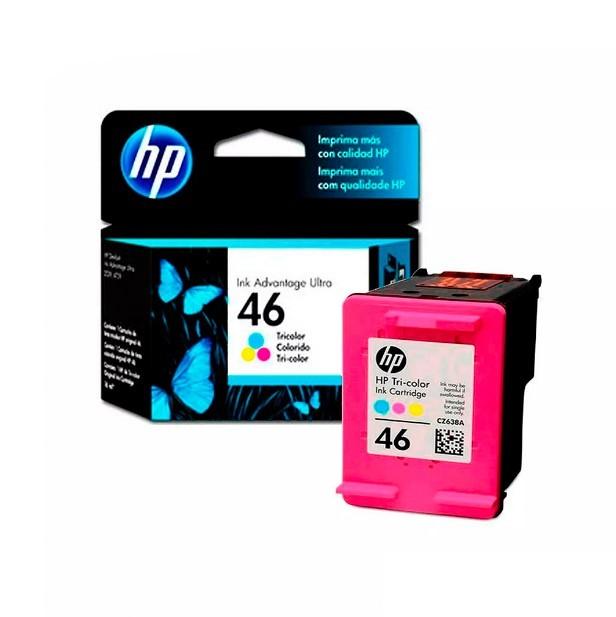 Cartucho HP 46 CZ638AL Colorido para Deskjet Ultra 2529 4729 5738 5739