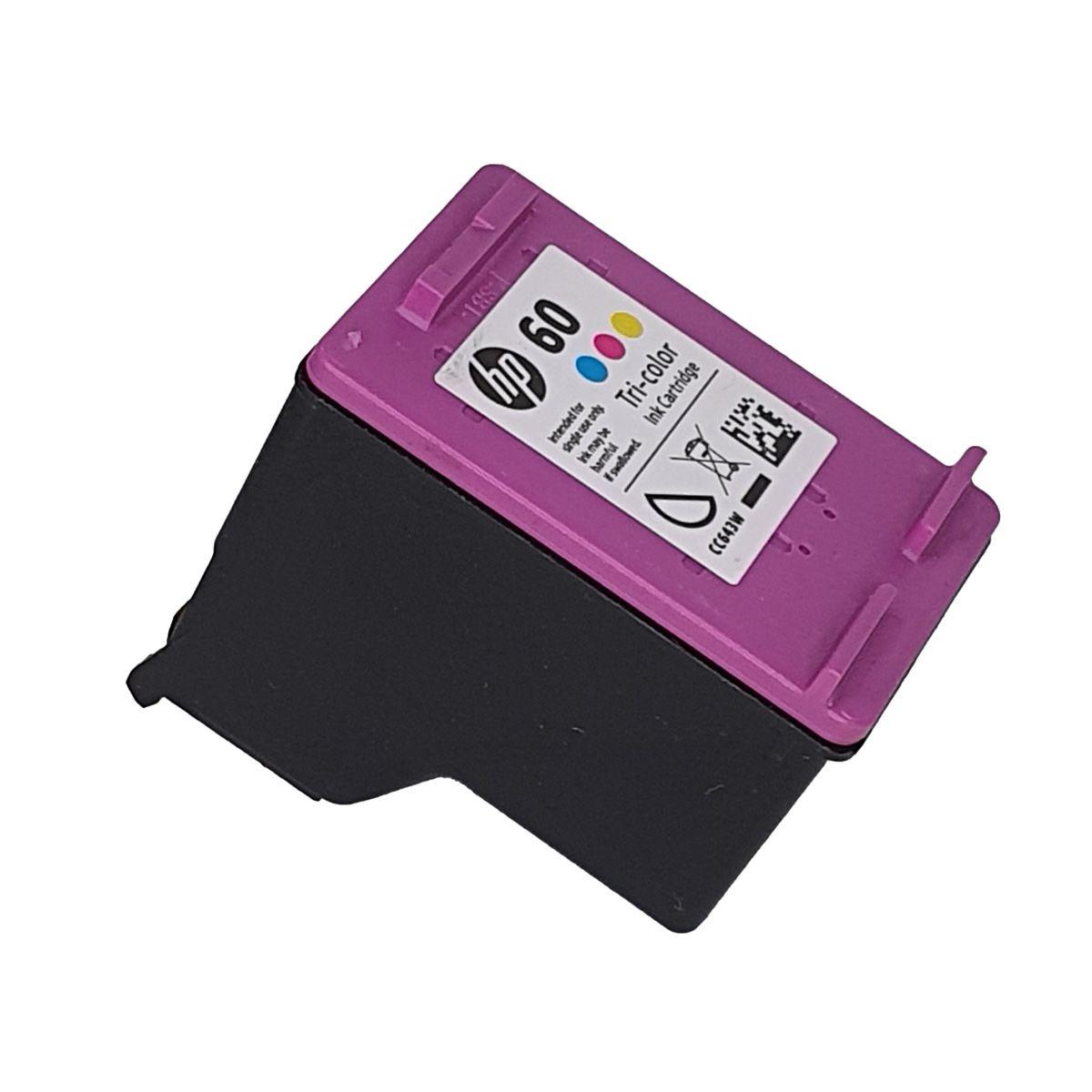 Cartucho HP 60 CC643WB Colorido para D1660 F4280 F4480 F4580 C4680 D110