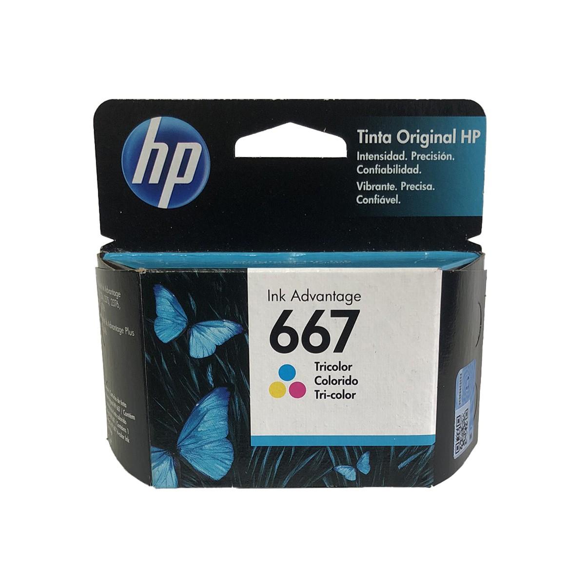 Cartucho HP 667 HP667 3YM78AL Colorido para 2376 2775 2776 6475 6476