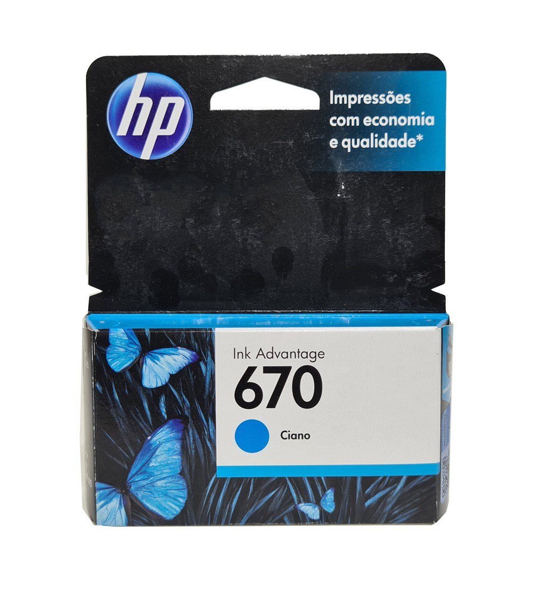Cartucho HP 670 CZ114AB 3.5ml Ciano para 3525 4615 4625 5525