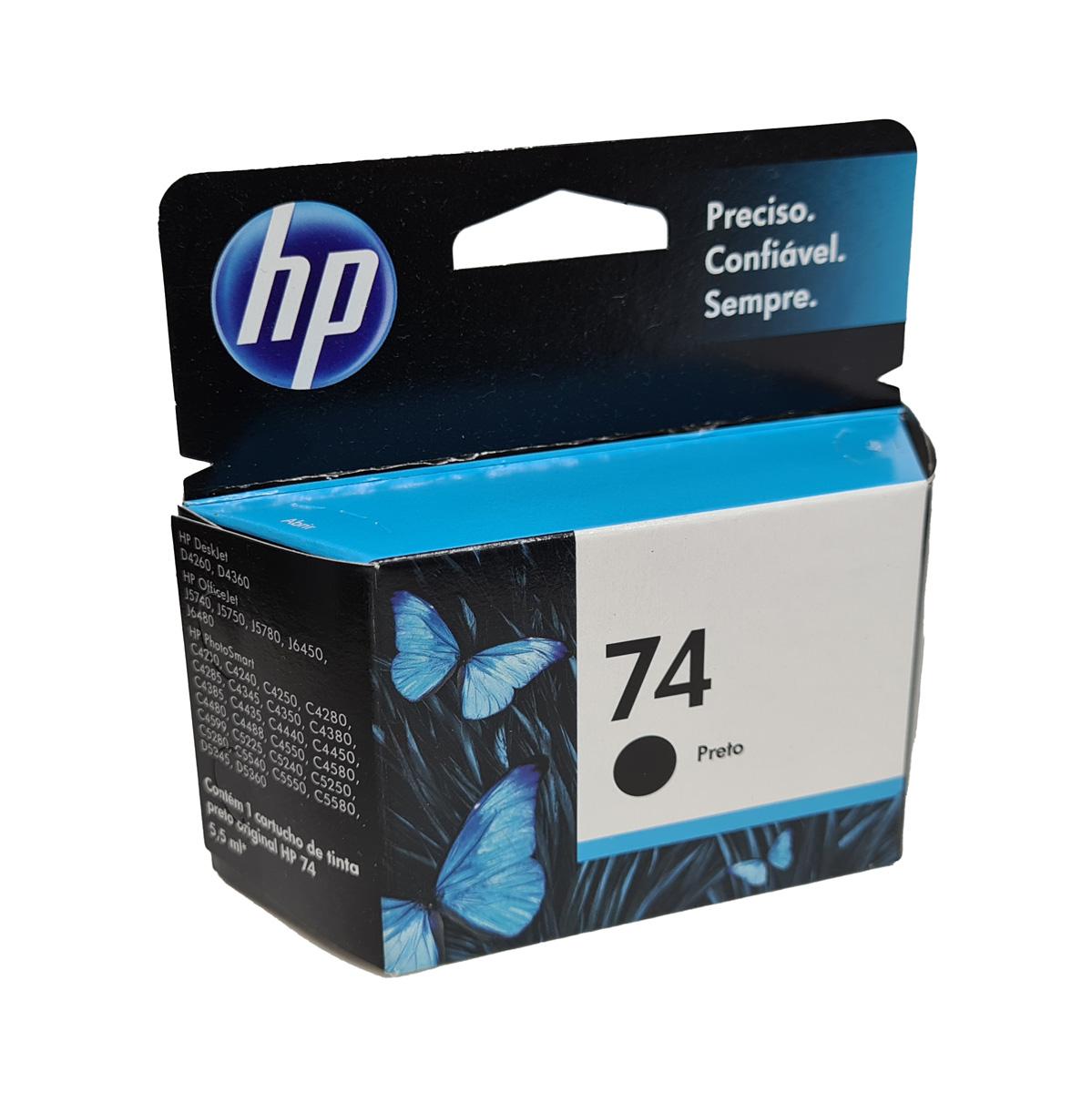 Cartucho HP 74 CB335WL Preto para D4260 C4280 D4360
