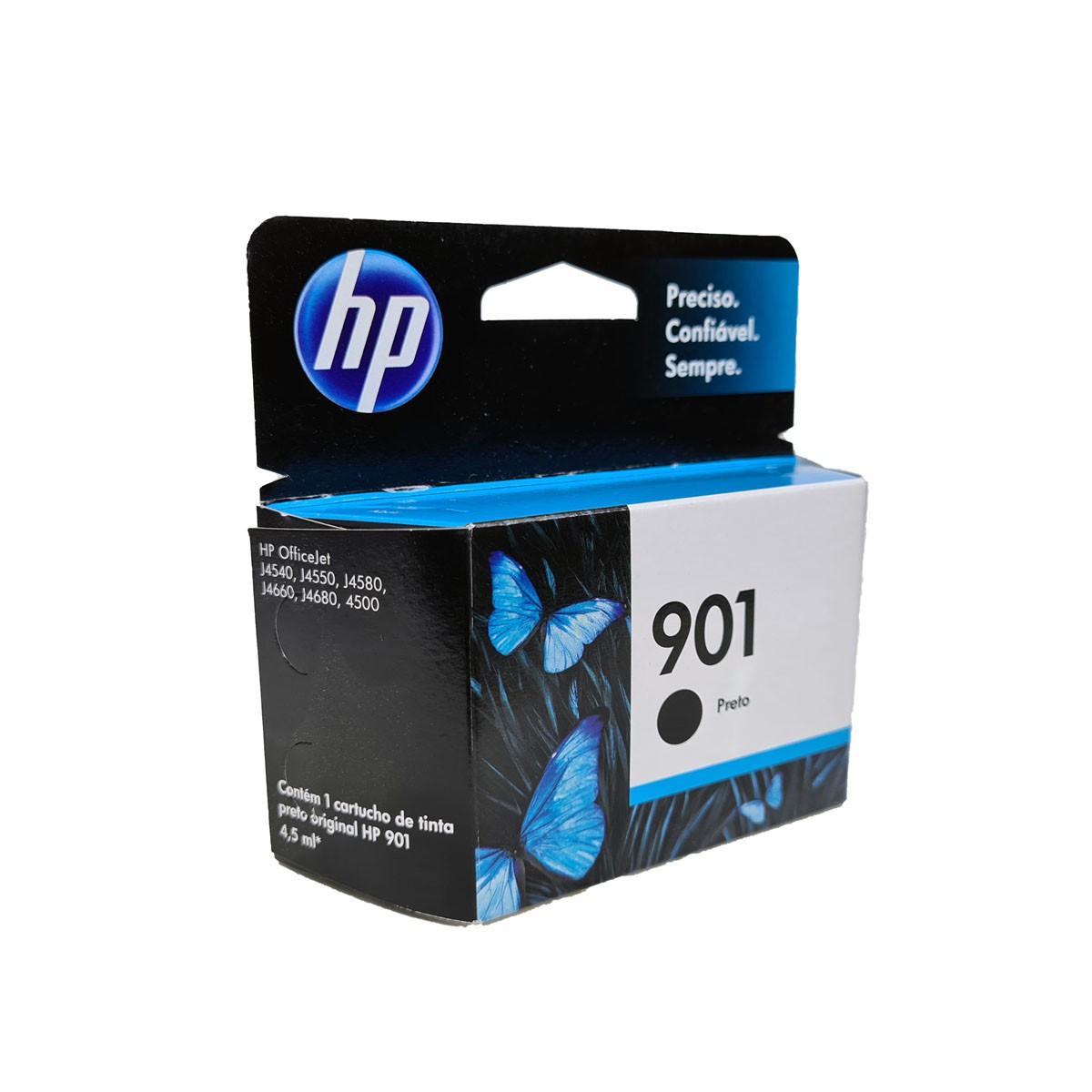 Cartucho HP 901 CC653AB CC653AL Preto para J4540 J4550 J4580 J4500 J4660 J4680