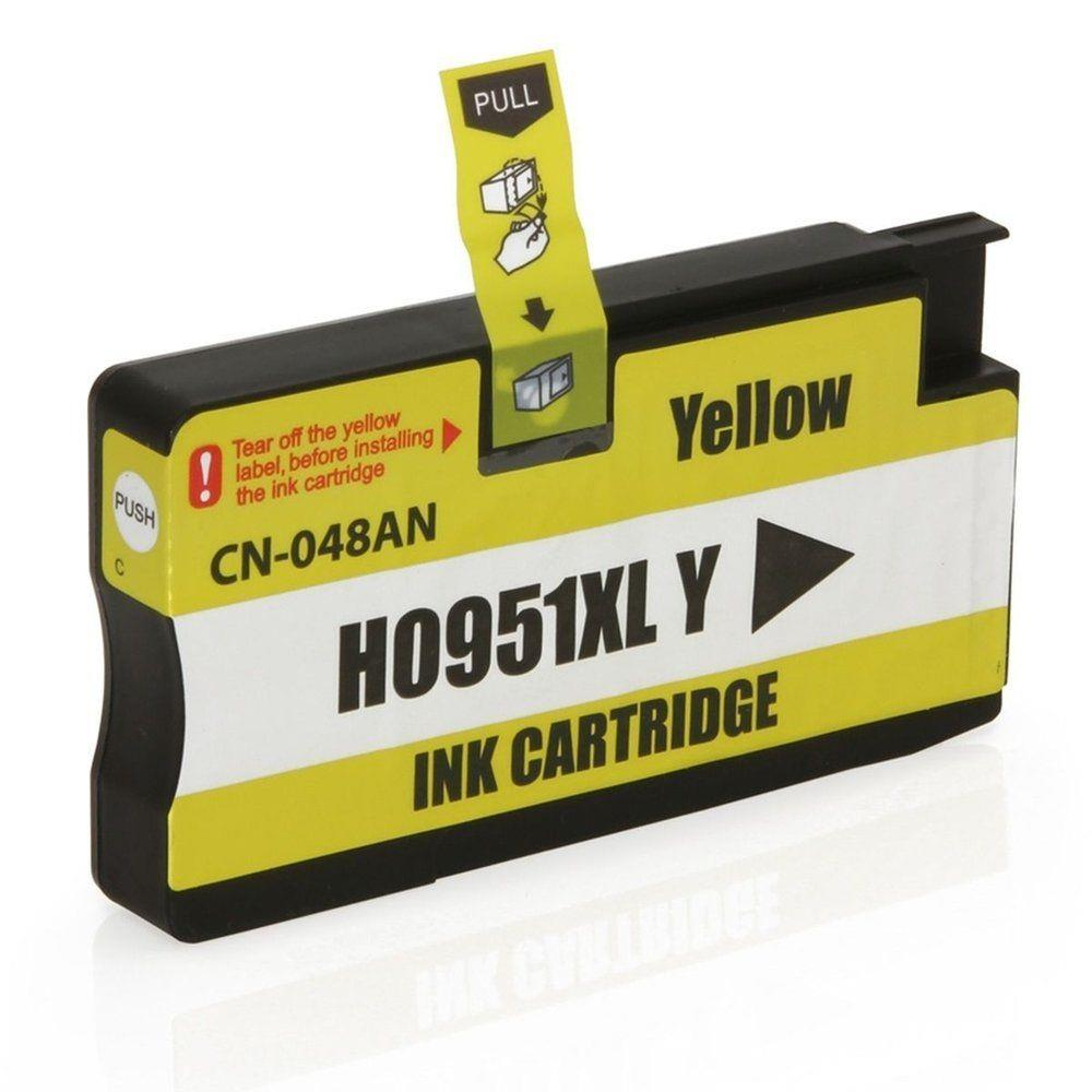 Cartucho HP 951xl Amarelo para OfficeJet 8100 8600 Compativel