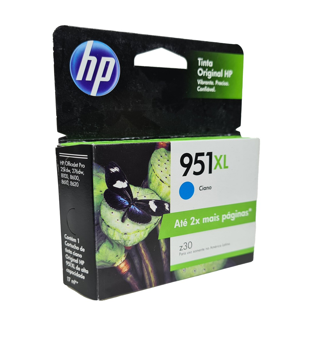 Cartucho HP 951XL Ciano CN046AL 17ml para 8100 e 8600